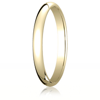 14kt Yellow Gold 2.5mm Traditional Comfort-Fit Ring