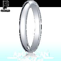 Platinum 2.5mm Traditional Comfort-Fit Ring