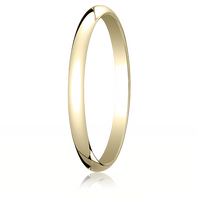 14kt Yellow Gold 2mm Traditional Comfort-Fit Ring