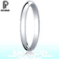 Platinum 2mm Traditional Comfort-Fit Ring