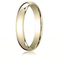 14kt Yellow Gold 4mm Traditional Comfort-Fit Ring
