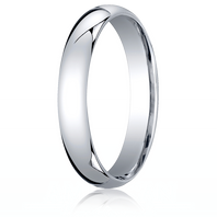14kt White Gold 4mm Traditional Comfort-Fit Ring