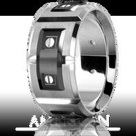 CARLEX WB-9850BW 11mm 18k White Gold & Black Cobalt Plates - Comfort Fit