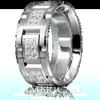 CARLEX WB-9155 18kt 9mm White Gold Comfort Fit Diamond Wedding Band (0.87ct)