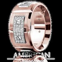 CARLEX WB-9897WR 18kt Rose & White Gold 11mm Comfort Fit Diamond Wedding Band (.19ct)