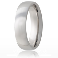Jewelry Innovations Vitalium® Traditional Domed 6mm Comfort Fit Wedding Ring - V6D