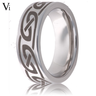 Jewelry Innovations Vitalium® Laser Engraved Knot 8mm Comfort Fit Wedding Ring - V8P