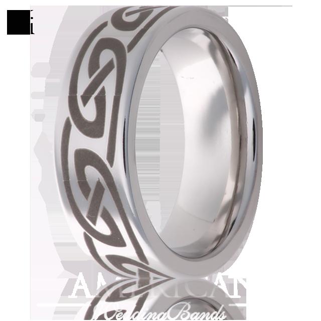 8mm vitalium braided wedding ring by jewelry innovations