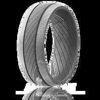 Lashbrook 8mm Damascus Steel Ring Acid and Bead-blast Finish - D8D2.5