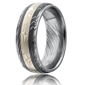 image 1 - Damascus Wedding Ring