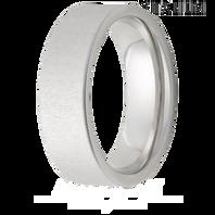 Jewelry Innovations Vitalium® Flat Top 8mm Comfort Fit Wedding Ring with Cross Satin Finish - V8P Cross Satin