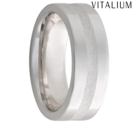 Jewelry Innovations Vitalium® Flat Top 8mm Comfort Fit Wedding Ring with 2mm Groove - V8P Deep Groove