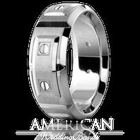 CARLEX WB-9852 8mm Platinum & Platinum Links - Comfort-Fit
