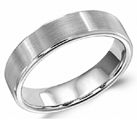 Crown Ring WB-9096 5.5mm Satin 14kt White Gold - Comfort Fit