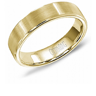 Crown Ring WB-9096-Y 5.5mm Satin 14kt Yellow Gold - Comfort Fit