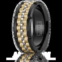 CARLEX CX3-0001WYB-S 9mm Black Cobalt & 18kt Yellow & White Gold - Comfort-Fit