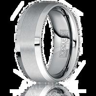 TORQUE Tungsten Carbide BeveledEdge Satini Finish Comfort Fit 8mm - TU0008