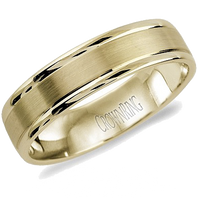 LB-2000-Y Light Weight 5.5mm Satin & Polished 14kt Yellow Gold Comfort Fit Ring
