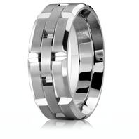 CARLEX WB-9146 Platinum 7.5mm Comfort Fit Wedding Band