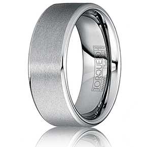TORQUE By Crown Ring Tungsten Carbide Comfort Fit 8mm