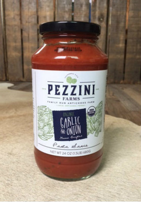 Pezzini Farms ORGANIC Roasted Garlic and Onion Pasta Sauce