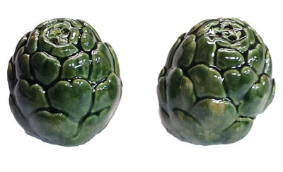 Artichoke Salt and Pepper Shakers