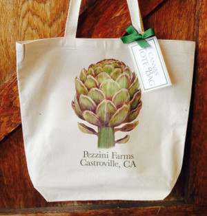 Canvas Artichoke Tote Bag