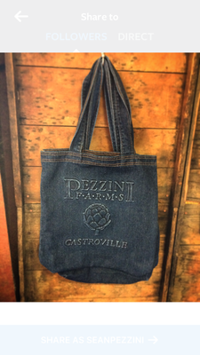Pezzini Farms Denim Tote Bag