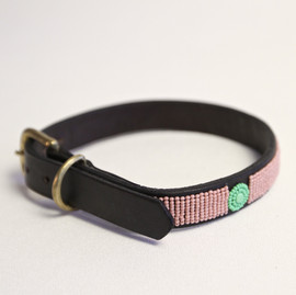Maasai Beaded Dog Collar - Pink
