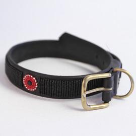 Maasai Beaded Dog Collar - Black