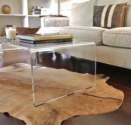 "Acrylic Coffee Table - 3/4"""