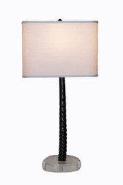 Gemsbok Horn Table Lamp on Acrylic