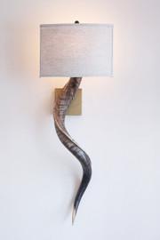 Kudu Horn Wall Sconce