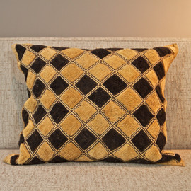Shoowa Kuba Cloth Pillow - Square Diamant