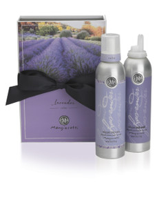 Lavender box with black bow and both Whipped Body Lotion and Whipped Body Wash.