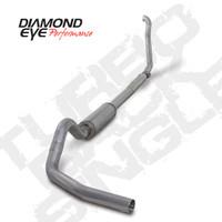"Diamond Eye 4"" Turbo Back Aluminized Exhaust 03-07 6.0"
