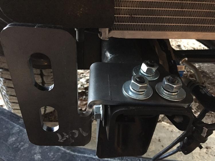 Tow Hook Eliminator Brackets 11 15 Ford Super Duty