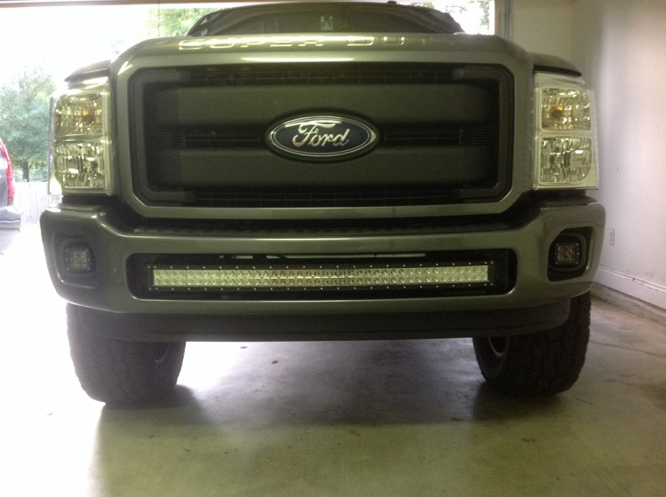 F250 f350 light bar brackets for 40 inch curved light bar dirtydiesels image 1 mozeypictures Choice Image