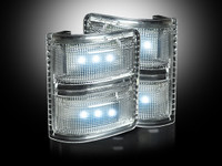 Recon Clear w/ white LED mirror lights 08-15 Superduty