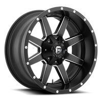 D538 Fuel Maverick Black Milled 8x170