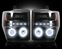 2008 - 2010 Ford Recon Smoked Projector Headlight with CCFL Halos