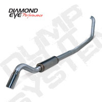 "Diamond Eye 4"" Turbo Back Turn Down Stainless Exhaust 99-03 7.3"