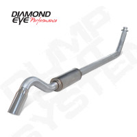 "Diamond Eye 4"" Turbo Back Turn Down Aluminized Exhaust 1994-2002 5.9"