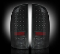 Recon Smoked LED Tail Lights Dodge Ram 2007-2009