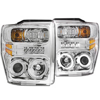 Anzo 1 PC Chrome Clear LED Projector Headlight Ford 2008-2010