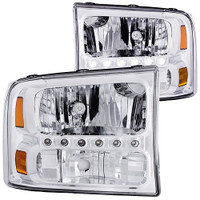 Anzo 1 PC Crystal Chrome LED Lights Headlight Ford 1999-2004