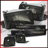 Complete Performance OBS 6 Piece Smoked Headlight Kit