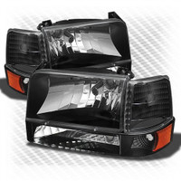 Complete Performance OBS FORD BLACK HEADLIGHT 6 PIECE KIT