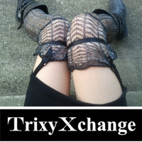 Black Elastic Sock Garters