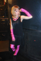 UV Reactive Hot Pink Metallic Arm Warmers